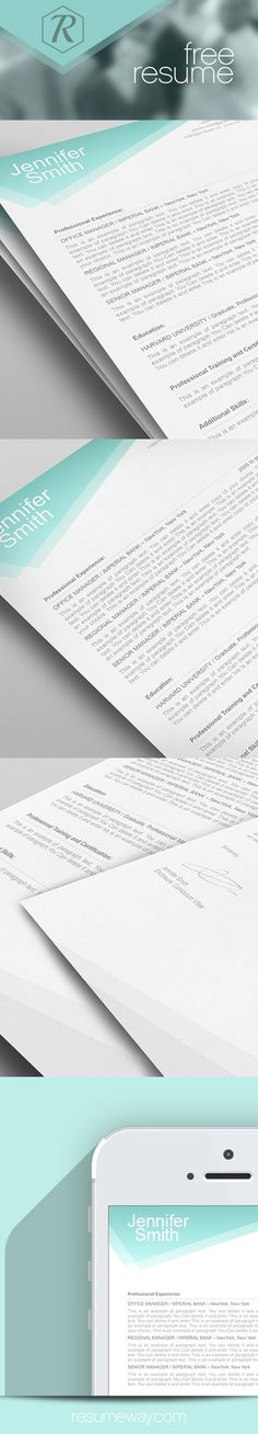 FREE Resume Template 1100020 - Premium line of Resume & Cover Letter Templates - edit with MS Word, Apple Pages #resume, #free-resumes, #resumes,