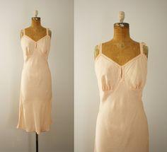 1940s slip  vintage 40s lingerie by 1932vintage on Etsy