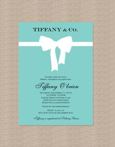 click here to see bridal shower boards: http://pinterest.com/search/boards/?q=bridal%20party       Tiffany Bridal Shower Invitations  Inspired by by Honeyprint, $15.00