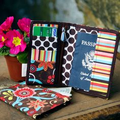 Traveler's Passport Wallet...I could totally make this :) It would be awesome in brocade or kimono fabric!