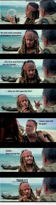 Captain Jack Sparrow (This always makes me laugh.)