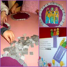 Προσχολική Παρεούλα : ΤΡΕΙΣ ΙΕΡΑΡΧΕΣ (Πατέρες της εκκλησίας - Προστάτες της Παιδείας ) Playing Cards, Blog, Crafts, Winter, Education, Winter Time, Manualidades, Playing Card Games, Blogging