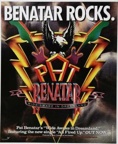 Pat Benatar Promotional Ad https://www.facebook.com/FromTheWaybackMachine
