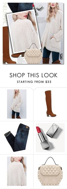 """Cool Neutrals"" by svijetlana ❤ liked on Polyvore featuring American Eagle Outfitters, Burberry, neutrals and polyvoreeditorial"