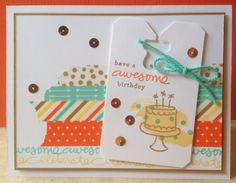 """Catherine Loves Stamps: CCC #035: June Card Challenge """"An Apple A Day"""""""