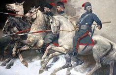 Russian Cossacks during the retreat of Le Grande Armée, 1812.