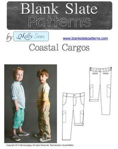Coastal Cargos PDF Sewing Pattern for Boys in sizes 18M to 8 Years by Blank Slate Patterns via lilblueboo.com