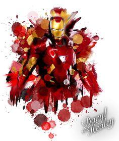 Iron Man splash colour watercolour tattoo design I made. #ironman #marvel #comics #tattoo