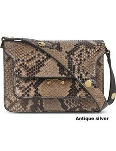 07cc0e262aa MARNI Leather Python Elegant Style Shoulder Bags