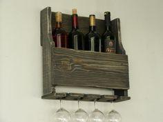 Pallet Wood Wine Rack Rustic Home Decor by TassoStudio on Etsy, $70.00