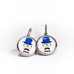 HelkaAndr / náušnice Elegán - chirurg.oceľ Cufflinks, Enamel, Accessories, Vitreous Enamel, Enamels, Wedding Cufflinks, Tooth Enamel, Glaze, Jewelry Accessories