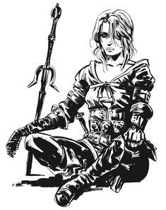 Цири,The Witcher,Ведьмак, Witcher, ,Игры,Игровой арт,game art