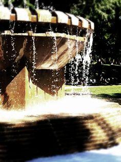 Veterans Memorial Fountain, Kiwanis Memorial Park / Spadina Crescent East, next to the Delta Bessborough Hotel
