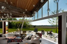 Modern House interior design by Omer Arbel Office 11 Indoor Outdoor Living, Outdoor Spaces, Outdoor Decor, Outdoor Lighting, Lofts, Architecture Design, Vancouver House, Modern Home Interior Design, Genius Loci