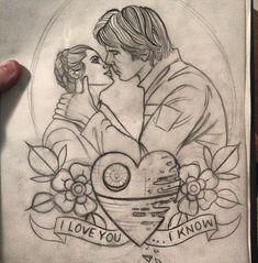 Princess Leia and Han Solo tattoo design - Ebony Mellowship (NSW)