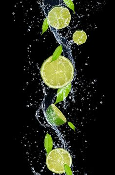 Photography Discover Limes in water splash isolated on black background Fridge Sticker Pixers - We live to change Photography Ideas At Home, Motion Photography, Splash Photography, Levitation Photography, Fruit Photography, Macro Photography, Creative Photography, High Speed Photography, Experimental Photography
