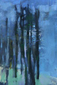 Green & Gray Forest | Casey Klahn Art