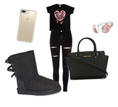 """""""Untitled #15"""" by alevsumer on Polyvore featuring Beats by Dr. Dre, Speck, River Island, UGG and MICHAEL Michael Kors"""