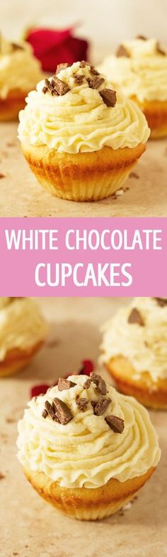 and moist white chocolate cupcakes recipe with fluffy white chocolate ...