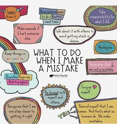 When I Make A Mistake Free Social Emotional Learning Growth Mindset Poster Kids Mental Health, Mental And Emotional Health, Social Emotional Learning, Coping Skills, Social Skills, Coaching, Growth Mindset Posters, Mindfulness For Kids, School Social Work