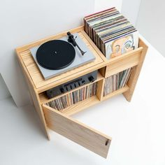 Turntable Stand from Symbol Audio - The Unison Record Stand is the perfect entertainment setup for a turntable, amplifier, and record c -