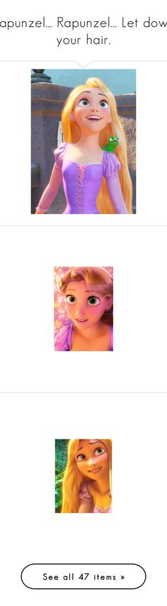 """""""Rapunzel... Rapunzel... Let down your hair."""" by this-girl-on-fire ❤ liked on Polyvore featuring disney, tangled, rapunzel, art, movies, people, pictures, home, children's room and backgrounds"""