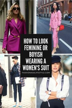How to look feminine or boyish wearing a women's suit - Fashion as a Lifestyle Blazers For Women, Suits For Women, Women Wear, Clothes For Women, Blazer Outfits, Chic Outfits, Fashion Outfits, Only Fashion, Suit Fashion