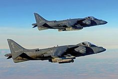 A pair of VMA-214 'Blacksheep' Harrier IIs