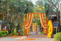 Wedding venue entrance decor ideas for a perfect wedding! Engagement Decorations, Outdoor Wedding Decorations, Outdoor Wedding Venues, Flower Decorations, Diwali Decorations, Ceremony Decorations, Wedding Entrance, Wedding Mandap, Entrance Decor