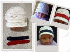 Carla Artesanato: Boné para bebê em crochet