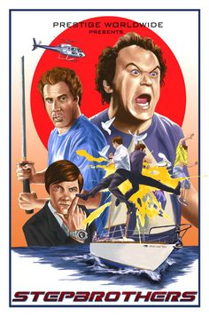 """Step Brothers by Cuyler Smith """"Brennan and Dale's Movie Poster"""" Brothers Movie, Step Brothers, Quote Posters, Film Posters, Dope Movie, Tv Show Music, Summer Barbecue, Movie Wallpapers, The Prestige"""