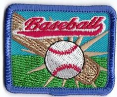 Girl Boy Cub Baseball Game Red Fun Patches Crests Badges Scout Guide Park Visit   eBay
