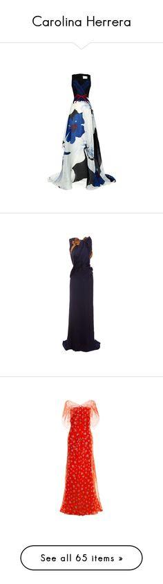 """Carolina Herrera"" by livnd ❤ liked on Polyvore featuring collection, CarolinaHerrera, carolina herrera, dresses, gowns, long dresses, floral dress, black tie gowns, black gown and black tie evening gowns"
