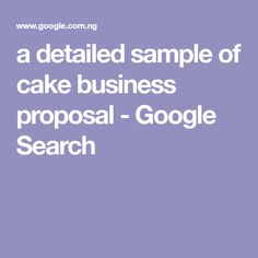 A Detailed Financial Analysis Sample Of Cake Business Proposal
