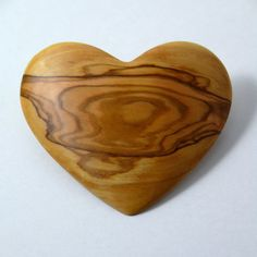 Heart shaped wooden barrette made from Olive wood $20.00