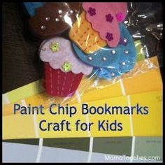 Paint Chip Bookmarks Craft for Kids