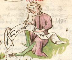 Thomasin : Der welsche Gast Schwaben, 3. Viertel 15. Jh. Cgm 571  Folio 50