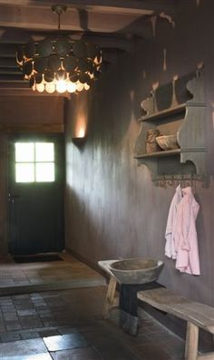Rustic hallway - Welcome Home Driftwood Furniture, Hanging Cabinet, Belgian Style, Grey Home Decor, Entry Hallway, Through The Looking Glass, Rustic Style, Decoration, New Homes