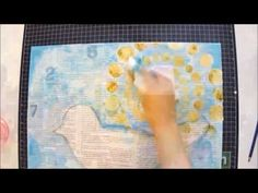 ▶ Mixed Media Art Canvas Tutorial - Allow Yourself To Be Free - YouTube