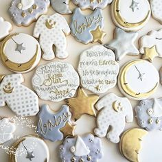Twinkle, twinkle little star baby shower cookies
