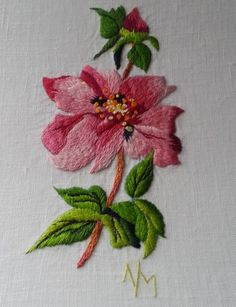 Embroidered Rose look carefully, lots of ideas in hoops and design as well as color placement