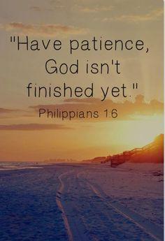 God isn't finished..