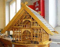 Großes Vogelfutterhaus im Umgebinde-Stil Bauanleitung zum...