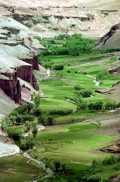 Bamiyan Valley, Afghanistan. Where Buddha rock carvings once existed. More distruction in the name of Islam.