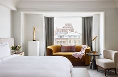 Located in Boston's tony Back Bay, the former Ritz-Carlton will reopen fresh from a renovation this year with 286 luxurious rooms and suites, many of which boast fireplaces. With a nod to the property's extensive history playing host to lavish dinners and parties, the hotel partnered with Major Food Group (The Grill, Carbone, and more) to helm food and beverage. The rooftop restaurant will plate up sweeping views of the Boston Commons and, in warmer months, slide open for alfresco dining.