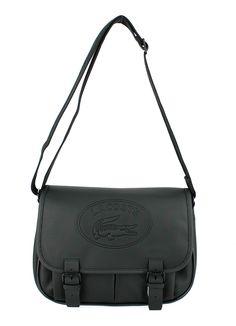 Sac Lacoste Messenger Bag-Noir