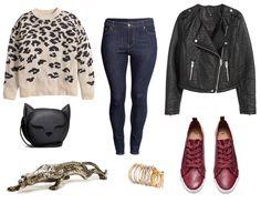Look de leopardo para tallas grandes.