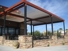 stylish customizable louvered patio cover by equinox roof