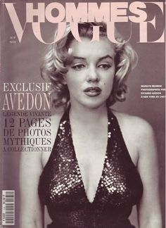 Vogue Hommes - November 1st 1993, magazine from France. Front cover photo of Marilyn Monroe by Richard Avedon, 1957.