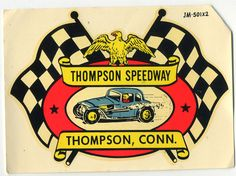 Vtg Water Decal Thompson Connecticut Speedway hot rod drag race nostalgia